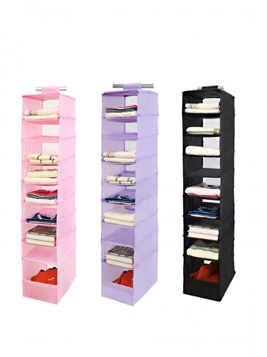 Wardrobe organizer with nine layers of durable clothes and socks bag