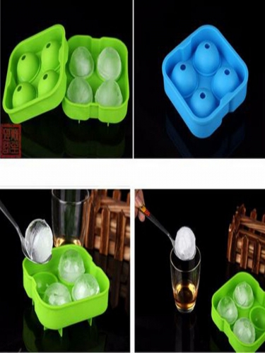 Ice Cube Ball Mold Silicone 6 Hole Ice Cube Ball Drinking Tray Brick Round Making Mold
