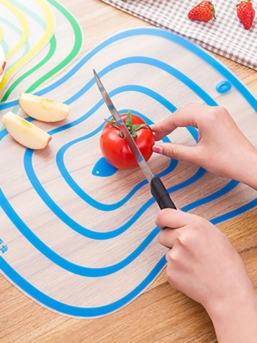 1Pc Kitchen Cutting Board Creative Striped Pattern Non-Slip Cutting Board