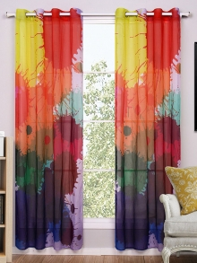 Creative Colorful Ink Splash Curtains