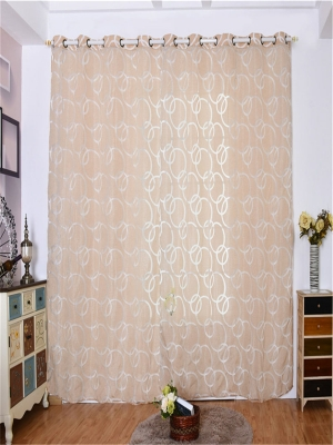 1 Curtain Print Simple Design Bedroom Curtains