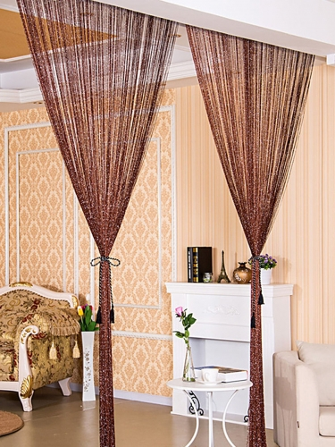 1 Piece Curtain Ideas Design Solid Color Modern Style Curtain Decorations