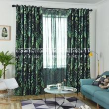 1 Piece Curtain Set Letter Printed Lightproof Fashion Home Linen