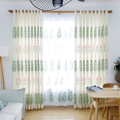 1Pc curtains embroidered floral decorative curtains