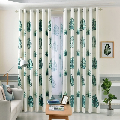 1Pc Curtain Print Color Block Light-proof Home Linen [thing0136]