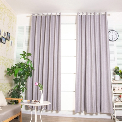 1Pc Living Room Curtain Modern Solid Color Sun-Shading Soft Window Curtain