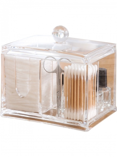 Multi-function Cotton Remover Packing Box Transparent Cosmetic Storage Box
