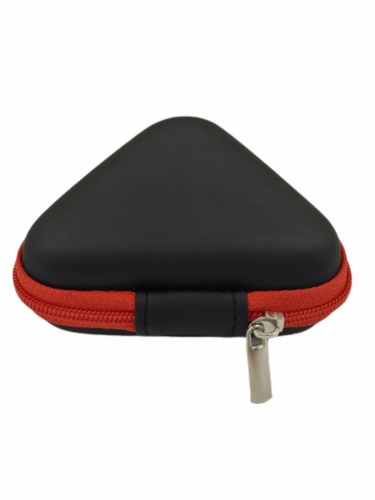Carrying Triangle Headphone Case Waterproof PU Storage Headset Bag Earphone Accessories Storage Zipper Box
