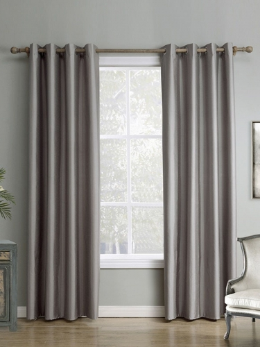 Solid Grey High Quality Window Curtain(One Panel)