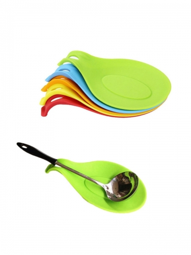 High Temperature Resistant Silicone Spoon Pad Multifunctional Sauce Tray