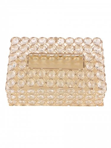 Crystal Facial Tissue Box Holder Crystal Cube Napkin Dispenser
