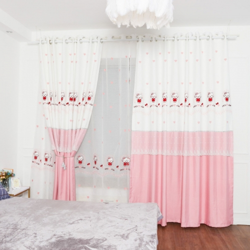 1 Pc Bedroom Curtain Embroidered Designed Shading Curtain