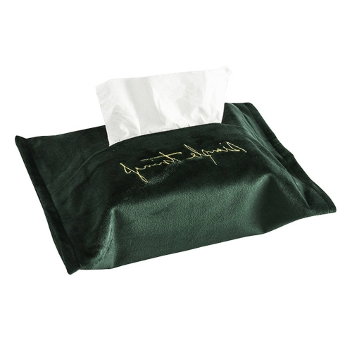 1 Pc Tissue Bag Nordic Style Embroidery Home Use Tissue Holder