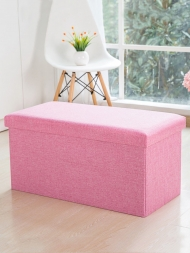 1 Pc Creative Stool Storage Box Simple Style Solid Color Folding Storage Stool...