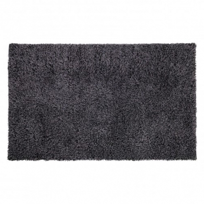 Large charcoal handwoven wool carpet 160 x 230cm.