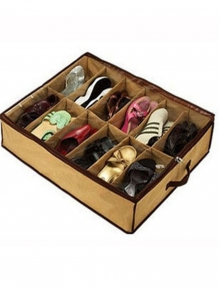 Shoe Storage Box Transparent Non Woven Fabrics Creative Shoes Container